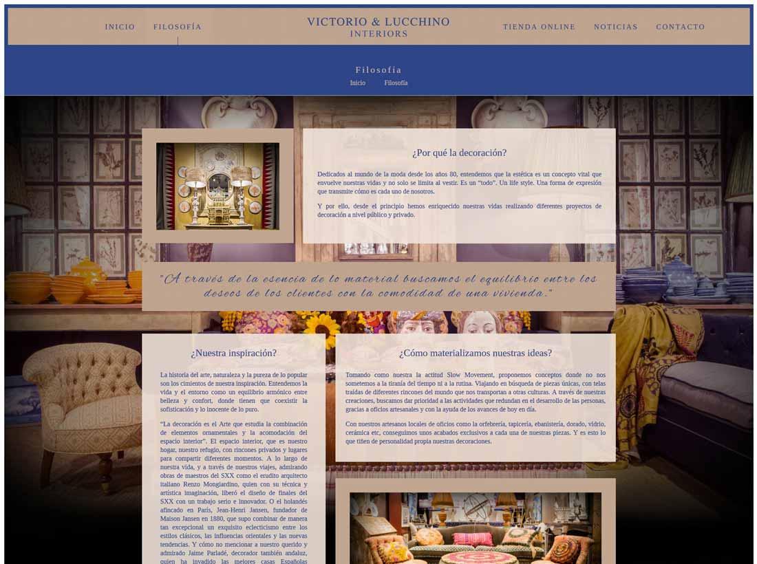 Web Victorio y Lucchino Interiors